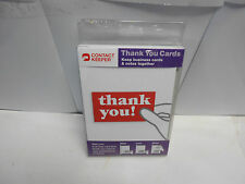 Thank-You Cards with slot for business Card inside. 10 Cards, 10 envelopes NK-9
