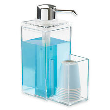 NEW! LUXURY CLEAR ACRYLIC MOUTHWASH/LIQUID SOAP DISPENSER - LOTION PUMP