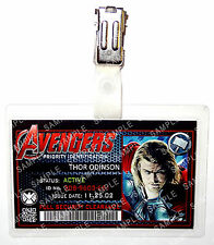 Marvel Avengers ID Badge Thor Superhero Cosplay Costume Prop Novelty Comic Con
