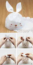 20 pcs Easter Sweets Gifts Presentation Bags White Bunny Long Ears Rabbit Party