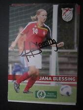 7040 Jana Blessing FV Löchgau Damen Frauen Fußball signiert