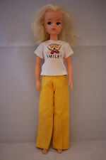 Pedigree SINDY doll bunches blonde hair in MIX N MATCH Smiler outfit 70's