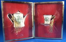 Lenox Holiday HOLLY & BERRIES Lot of 2 Ornaments Cup & Saucer and Teapot MIB