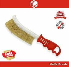 "9"" Rust Cleaning Wire Brush Brass Knife Brush - Rust Removal"