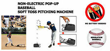 Batting Tee, T-Ball, Non-Electric Soft Toss Pop Up Baseball Pitching Machine