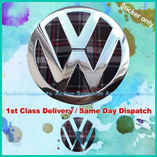 VW Mk6 Interlagos Plaid Rear Badge Insert Vinyl MkVI Volkswagen GTI Golf R