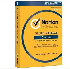 Norton Security Deluxe 2016 5-Devices PC/MAC/Android/iOS