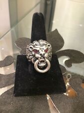 King Baby Studio Lion Head Ring With Ruby Eyes