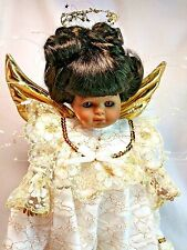 "Goebel Carol Anne Bette Ball LE 1000 AA Angel Gloria 12"" Musical Porcelain Doll"