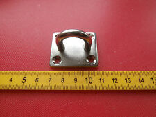 6mm Stainless Staple on 35mm x 40mm Square Base Plate.Ring Eye plate. Eyeplate