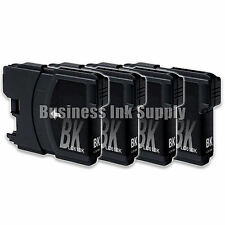 4 Black LC61 Ink Cartridges for Brother DCP-365CN DCP-385CW DCP-6690CN DCP-J125