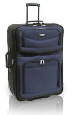 """Travel Select Blue Amsterdam 25"""" Expandable Rolling Luggage Suitcase Travel Bag"""