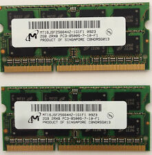 4GB 2 2GB PC3-8500 Laptop Memory RAM DDR3 Acer Apple Dell HP Lenovo Toshiba