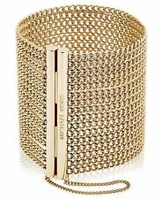 MICHAEL KORS Modern Fringe Gold Open Drape Chain Statement Bracelet