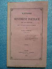SENTIMENT POETIQUE DE LA NATURE dans l'antiquité grecque et romaine, 1860.