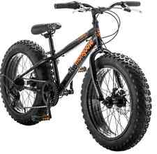 Mongoose Bike 20 inch Boys Fat Tire Bikes Compac 7-Speed Boy Black Bicycles