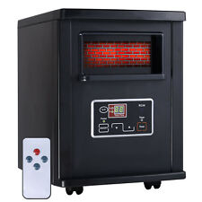 Goplus 1800 Sq. Ft Electric Portable Infrared Quartz Space Heater Remote Bl