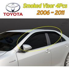 Smoked Window Visor Sun Rain Vent Guard 4Pcs 1Set for 2006- 2011 Toyota Camry