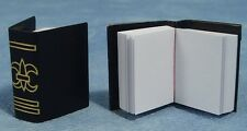Two Thick Black Books, Stationery for a Dolls House Miniature Book Library Study