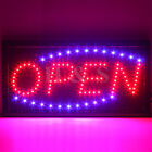 Top Quality STATIC LED OPEN Shop Sign Signs Neon Display Window Hanging Light -B