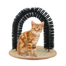 Pet Purrfect Arch Bristles Cat Kitten Self-Groomer Massager Scratcher Catnip Toy