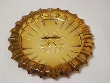 Amber Color Ashtray Large Heavy Glass Cigarettes Cigars Unbranded