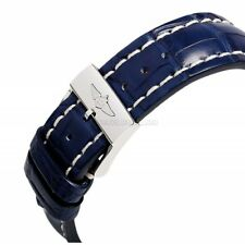100% AUTHENTIC NEW OEM BREITLING BLUE CROCODILE , ALLIGATOR STRAP 22-20mm 731P