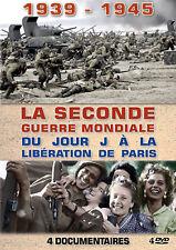 4 DVD 1939 1945 La Seconde Guerre Mondiale : Du Jour J à la Libération de Paris