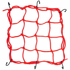 6 Hooks Motorcycle Bike Hold Down Helmet Cargo Luggage Mesh Net Bungee Red New