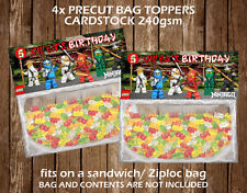 Lego Ninjago Personalised Bag Topper Birthday Party Favour Gift Bag Children