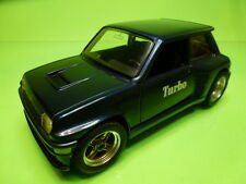 BBURAGO 0160 RENAULT 5 TURBO - METALLIC BLUE 1:24 - GOOD - SPECIAL REBUILT