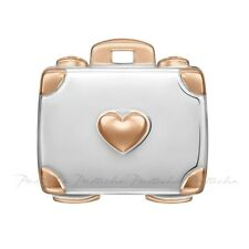 Lovelinks, Bead Sterling Silver, Suitcase Bronze Accents Charm Jewelry TT623BZ