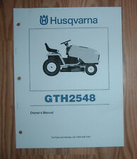 HUSQVARNA LAWN TRACTOR GTH2548 OWNERS MANUAL