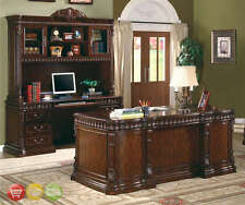 Union Hill Double Pedestal Traditional Executive Desk Wood Office Furniture
