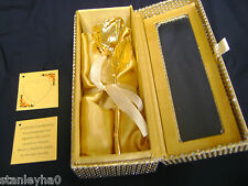 """ANNIVERSARY GIFT Gold Dipped 6"""" Real Rose in Gold Egyptian Casket Design Box NEW"""