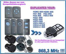 868 Mhz Handsender kompatibel zu Hörmann Garagentor FIT2 HS4 HSP4 HSD2 HSZ HSZ2