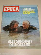 EPOCA=1983/1730=JACQUES COSTEAU=ITZHAK PERLMAN=CARLO FRUTTERO E FRANCO LUCENTINI