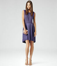 New REISS Purple Gigi Textired Party Dress Size 12 BNWT £179 Spring Summer