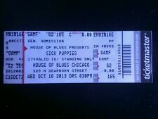 Sick Puppies Ticket  10/16/2013 Chicago HOB MAKE AN OFFER!