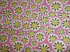 ROWAN Amy Butler Daisy Chain Pure Cotton Fabric Pink 1 yard NEW