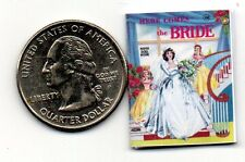 Miniature -  vintage 1940  Cut-Me-Out BRIDE Paper Dolls  - Dollhouse 1:12 scale
