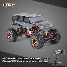 HSP 94180T2 1/10 2.4G 3CH 4WD Brushed Motor RTR Rock Crawler RC Car+2 Servo A0L8