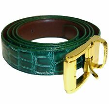 New faux leather Men's Belt adjustable strap length emerald green