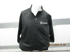 VINTAGE TRI-MOUNTAIN X ROLLS ROYCE SEWN 2XL BLACK ZIP-UP JACKET PRE-OWNED POLYES