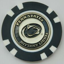 NEW NCAA Penn State Nittany Lions Poker Chip removable Golf Ball Marker