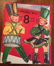 "Vintage Birthday Card ""A Birthday Wish for an 8 Year Old"" NEW w/ envelope"