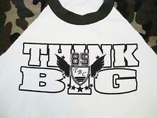 Vintage 80's Think BIG Camo Raglan Sleeve Camouflage T Shirt L