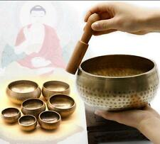 7614 Hand Hammered Tibetan Chakra Healing Buddhist Yoga Meditation Singing Bowl