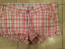 Abercrombie Shorts Size 16 Girls Pink White Plaid Shortie Stretch GUC