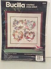 Bucilla Counted Cross-stitch 40666 A wreath For All Seasons Kit New